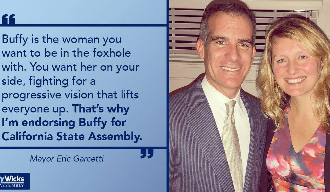 Los Angeles Mayor Eric Garcetti is Endorsing Buffy!