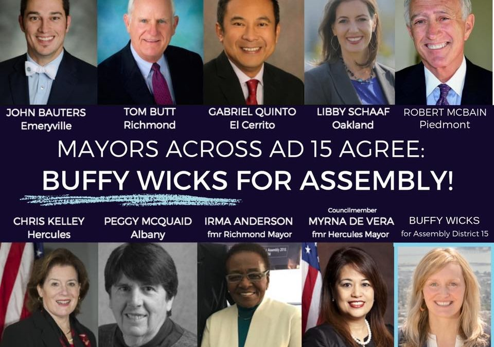 Piedmont Mayor Robert McBain Endorses Buffy!