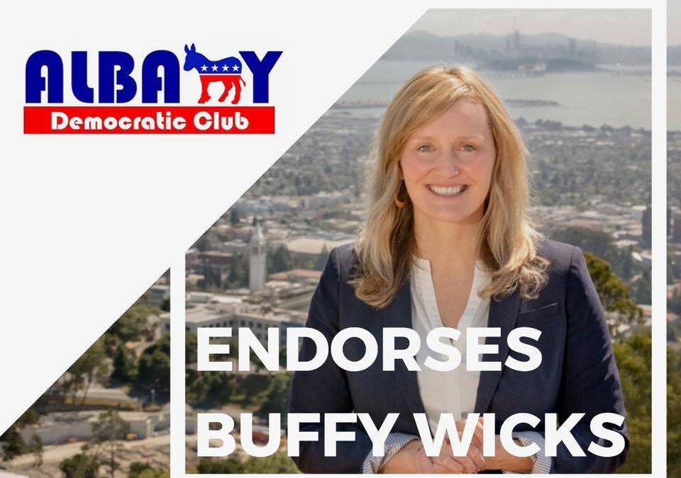 Albany Democratic Club Endorses Buffy Wicks for State Assembly